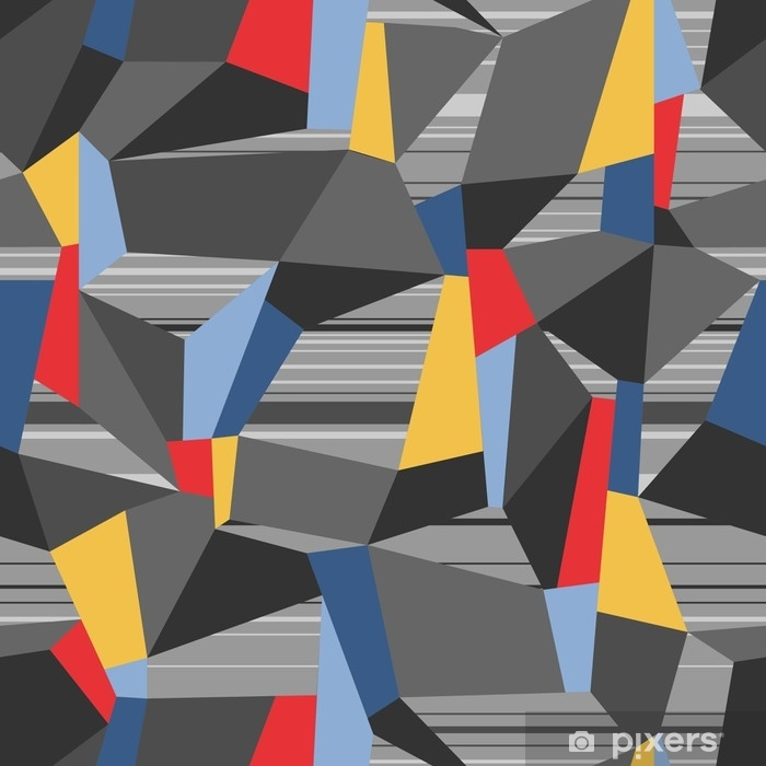 Naklejka Pixerstick Geometryczne bezszwowe wektor wzór wielokąta - Zasoby graficzne