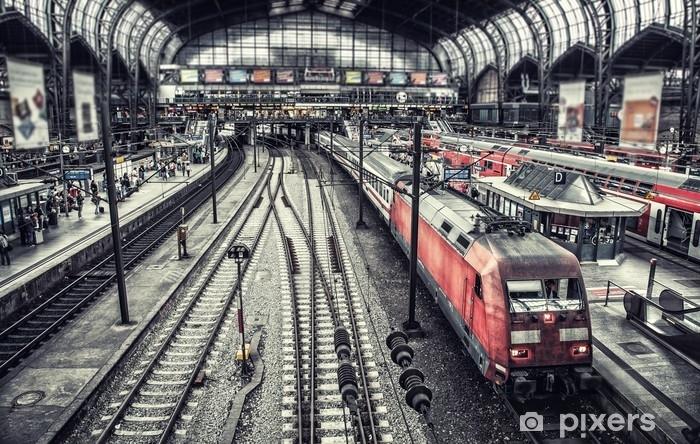 Papier peint vinyle Bahnhof - Transports