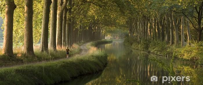 Papier peint vinyle Scène panoramique de Le Canal du Midi, Toulouse - Thèmes