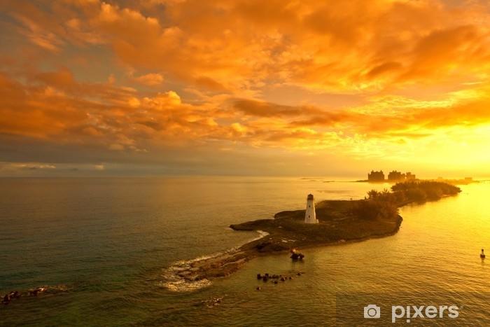 Papier peint vinyle Lever de soleil aux Bahamas - Voyages