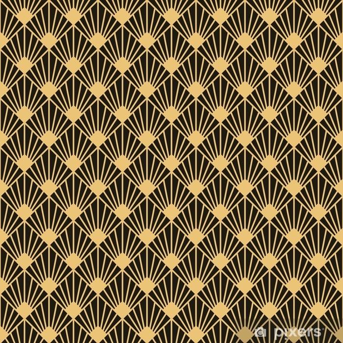 Sticker Pixerstick Texture de modèle sans couture de style art déco - Ressources graphiques