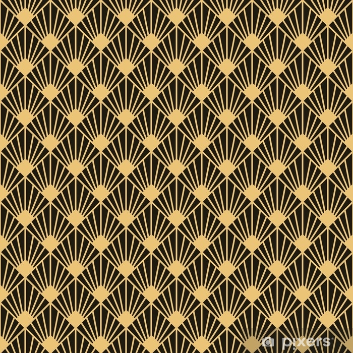 Art Deco style seamless pattern texture Vinyl Wall Mural - Graphic Resources