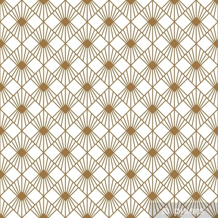 Art Deco style seamless pattern texture Pixerstick Sticker - Graphic Resources