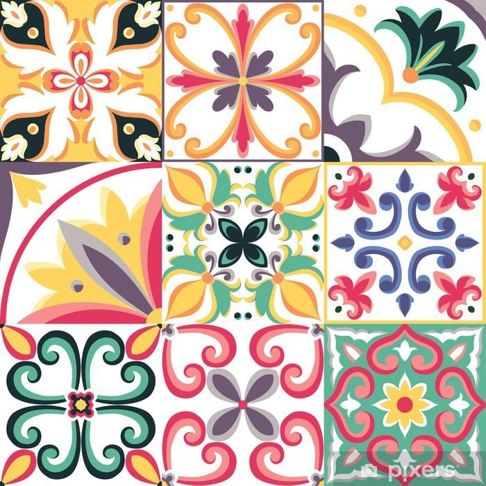 Naklejka Pixerstick Jednolite wzór w stylu włoskim. Wektor jasne tło - Tekstury