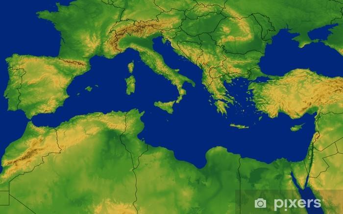 Valimeren Alueen Kartta Maastossa Tapetti Pixers Elamme