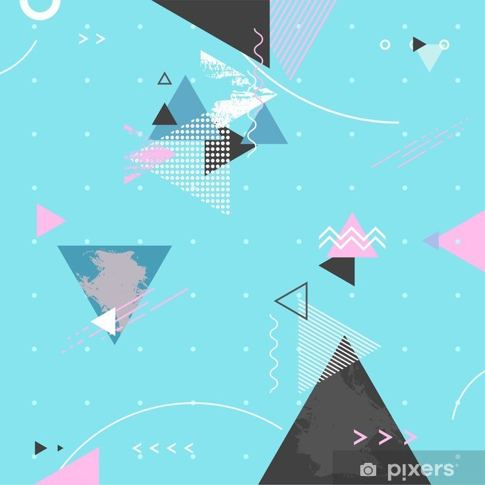 Nálepka Pixerstick Abstraktní moderní geometrické pozadí - Canvas Prints Sold