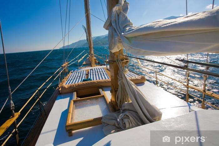 Naklejka Pixerstick Seria rozrywka: podróż jacht w lecie Sealine - Transport wodny