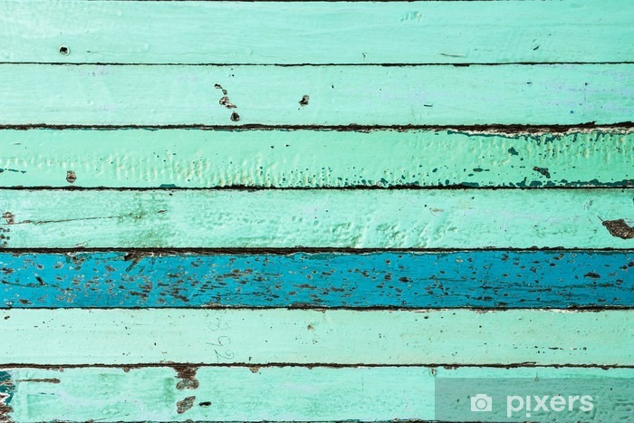 Fotomural Estándar Fondo azul de madera de la vendimia - Recursos gráficos