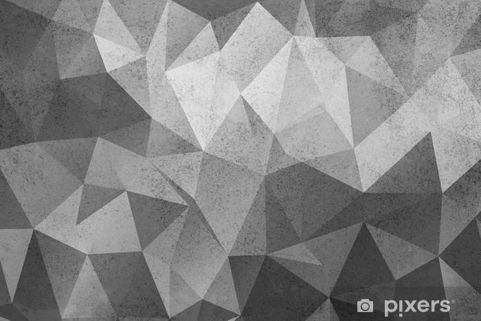 Grunge black&white polygonal vintage old background. Wardrobe Sticker - Graphic Resources