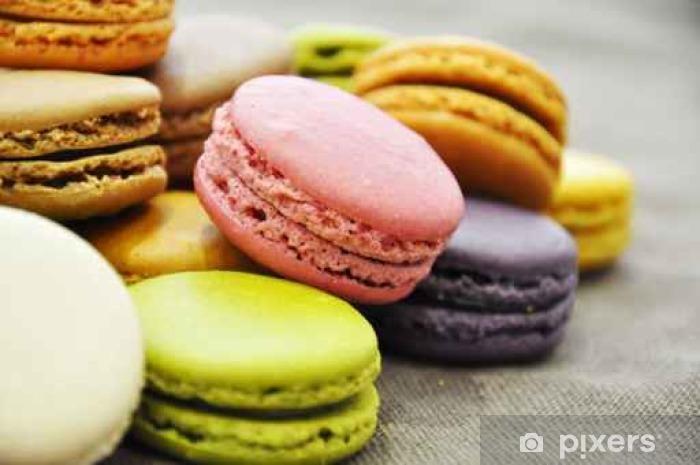 Fototapeta winylowa Macarons pl vrac de Couleur - Jedzenie