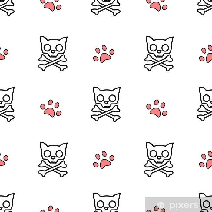 Fotomural Ilustración de fondo de patrón de vector blanco y rojo ...
