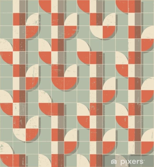 Autocolante Pixerstick Vector colorido abstrato sem costura padrão geométrico retrô - Recursos Gráficos