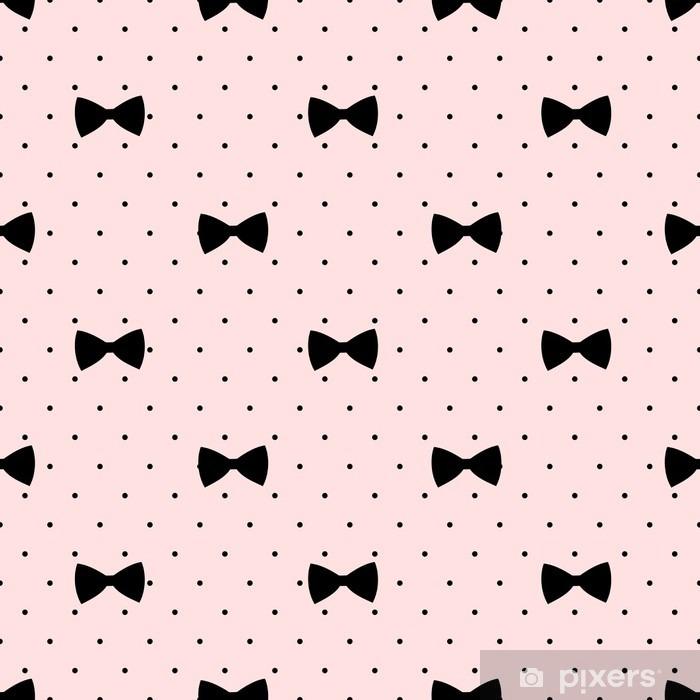 Fototapeta winylowa Jednolite wzór łuk na kropki tle. Cute mody ilustracji. Dekoracyjne tło baby shower. - Zasoby graficzne