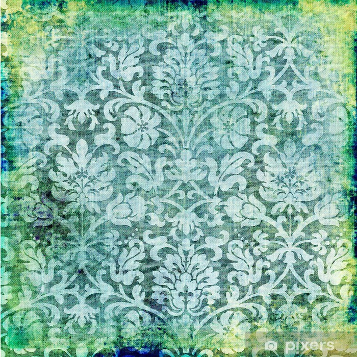 green vintage lacy background Vinyl Wall Mural - Themes