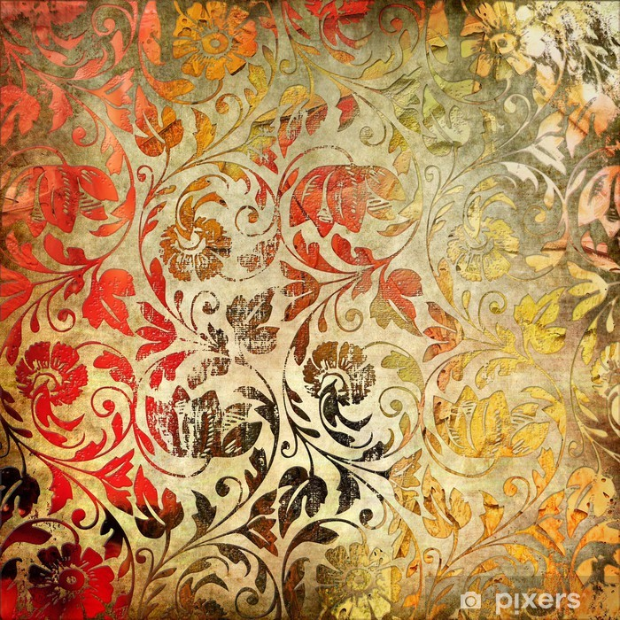 Papier peint vinyle Fond de dentelle de cru - Styles