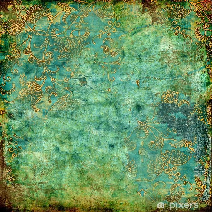 Plakat w ramie Zielony, tekstury, rusty rocznika - Style