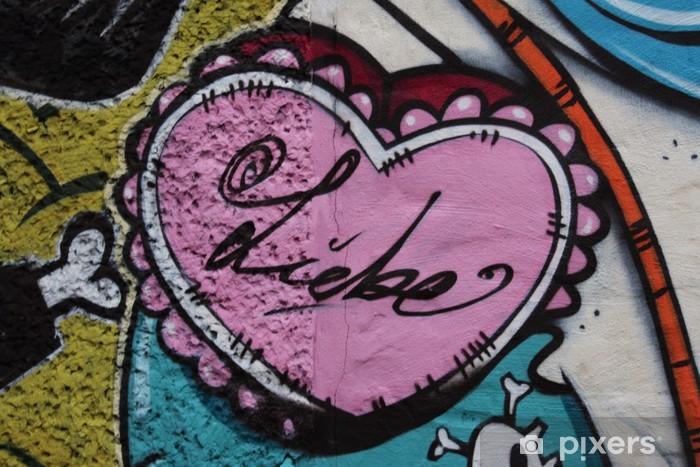 Fototapeta winylowa Herz grafit - Szczęście