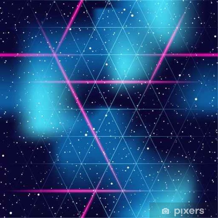 retrofuturistic seamless space background Pixerstick Sticker - Science