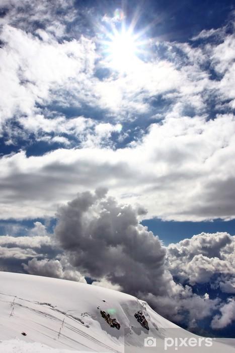 Sticker Pixerstick Sonne über Zermatt - Sports d'extérieur