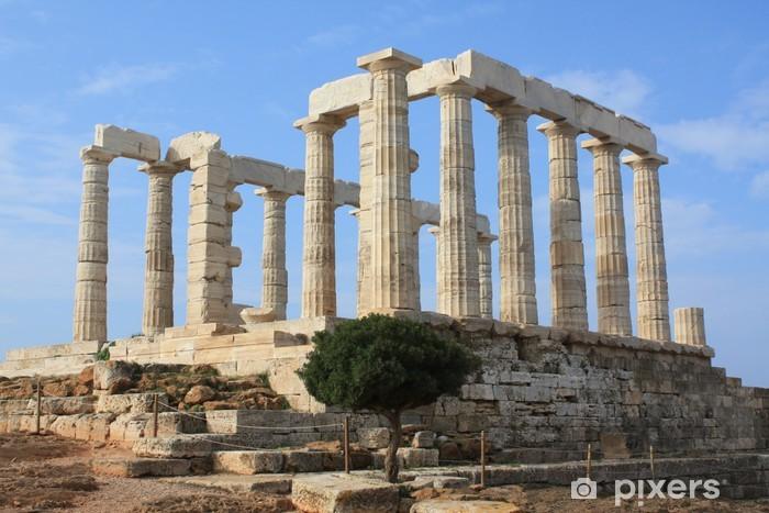 Naklejka Pixerstick Świątynia Poseidon w Grecji - Miasta europejskie