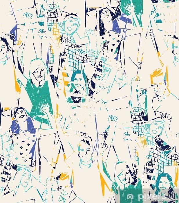 Onnellinen nuori abstrakti saumaton malli. Vinyyli valokuvatapetti - Graafiset Resurssit