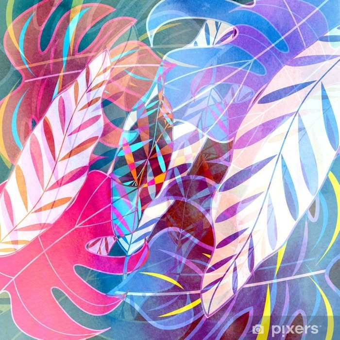abstract watercolor background Pixerstick Sticker - iStaging