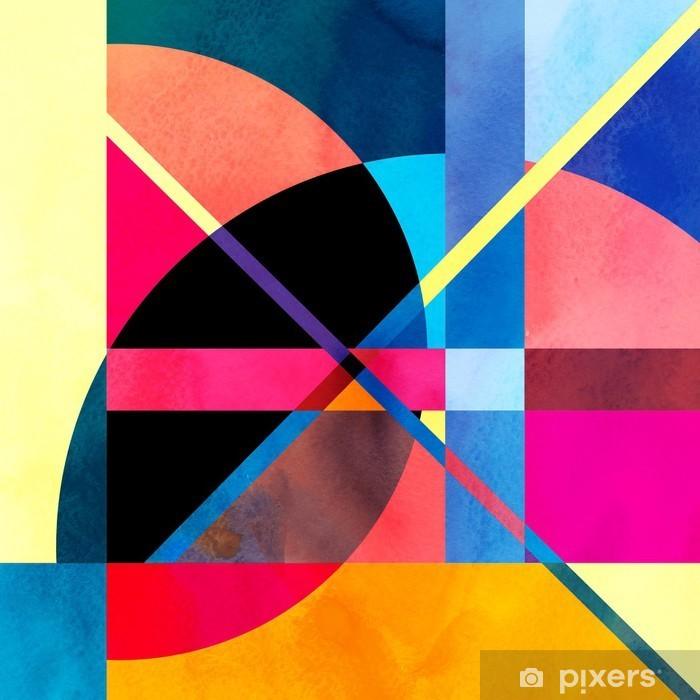 Naklejka Pixerstick Abstrakcyjne tło akwarela - iStaging
