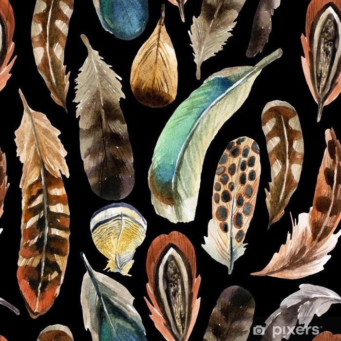 Fotomural Estándar Fondo de la pluma de la acuarela - Animales
