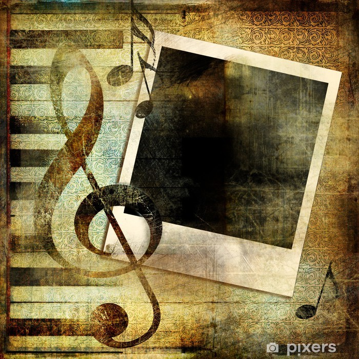 Papier peint vinyle Fond musical vintage - Signes et symboles