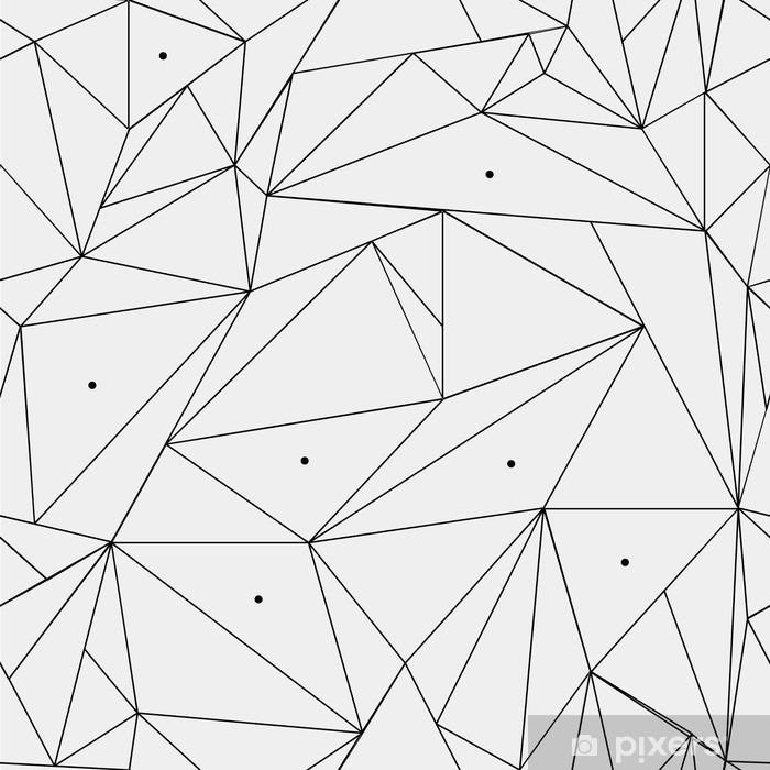Fototapeta winylowa Geometryczne proste czarno-białe minimalistyczny wzór, trójkąty lub witraż. Może być używany jako tapeta, tło lub tekstury. - Zasoby graficzne