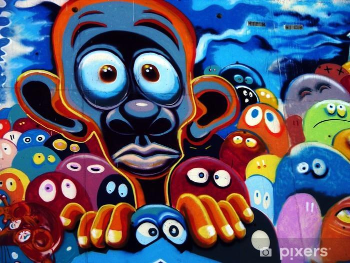 Fototapeta winylowa Graffiti, Barcelona -