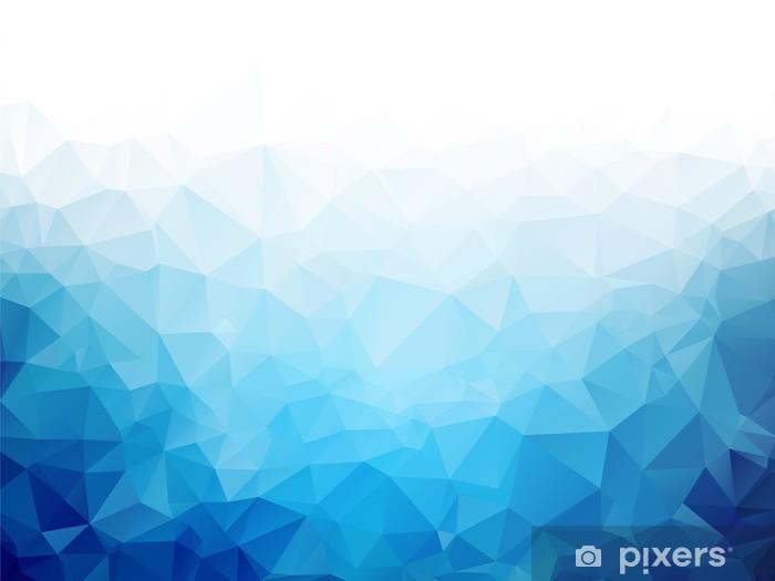 Fototapeta zmywalna Geometryczne Niebieski lód tekstury tła - Relaks