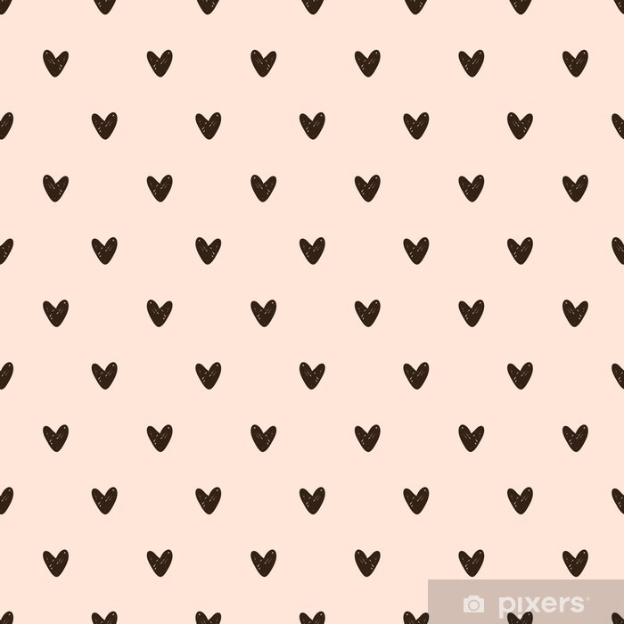 Sømløse hjerte mønster Pixerstick klistermærke - Grafiske Ressourcer