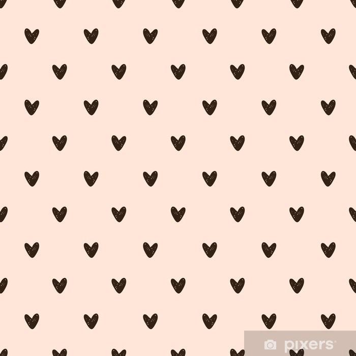Pixerstick Sticker Naadloze hart patroon - Grafische Bronnen