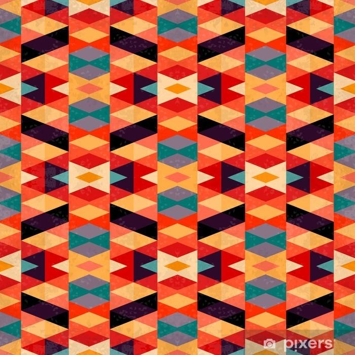 Fotomural Estándar Brillante efecto psicodélico ilustración del grunge de fondo geométrica del vector - Recursos gráficos