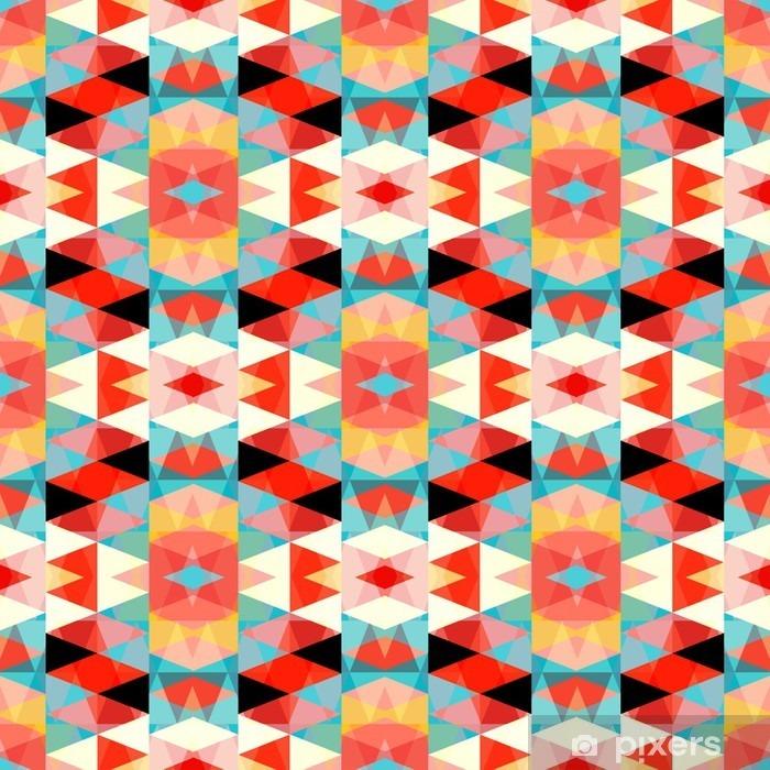 Sticker Pixerstick Petits polygones colorés de motif géométrique seamless - Ressources graphiques