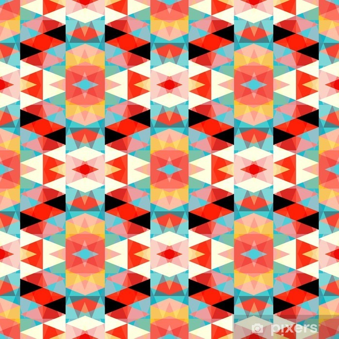 small colored polygons seamless geometric pattern Pixerstick Sticker - Graphic Resources