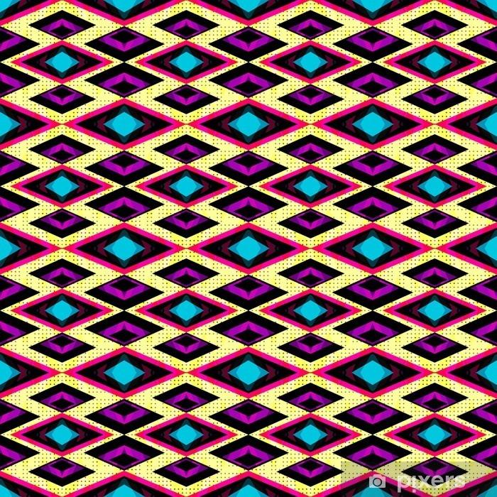 Vinilo para Nevera Polígonos de color rosa y púrpura sobre un fondo claro patrón geométrico sin fisuras - Recursos gráficos