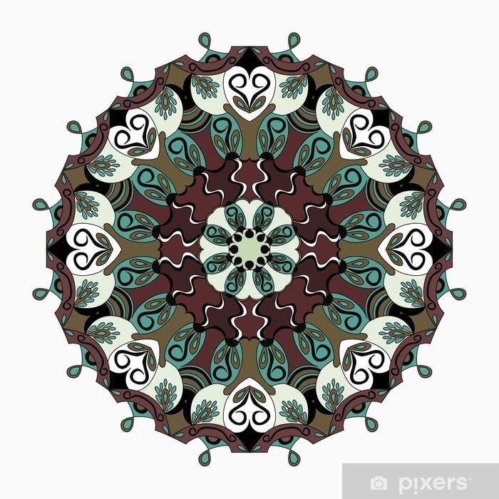 Mandala. Vintage elements. vector illustration Poster - Graphic Resources