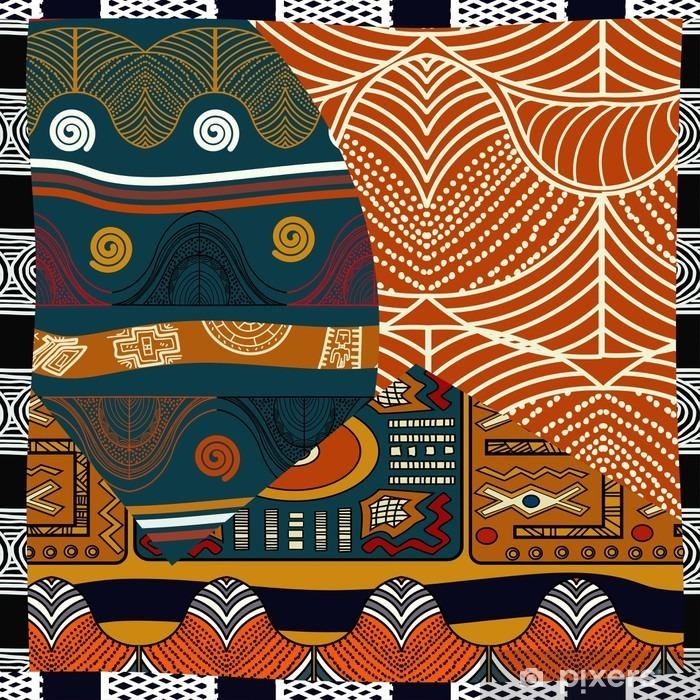 Nálepka Pixerstick Indický barevné bezešvé pattern.Vector ilustrační - Grafika