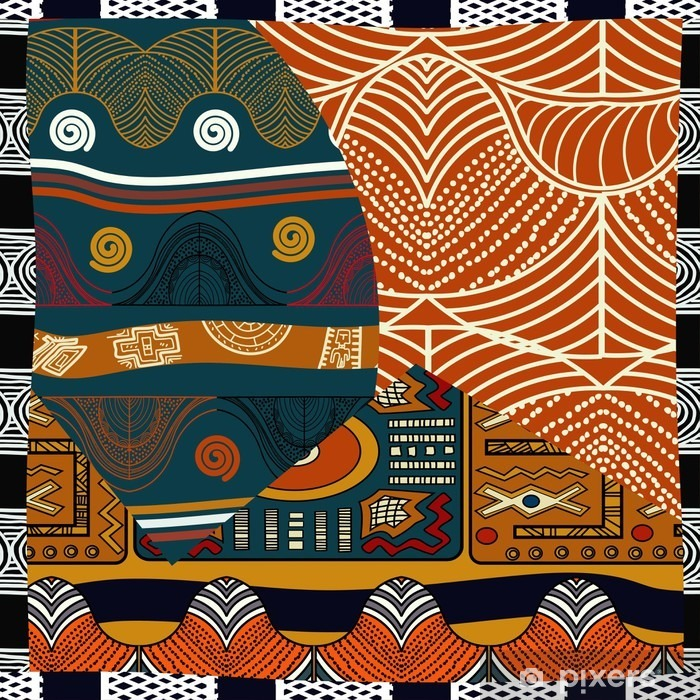 Papier peint vinyle Indienne de couleur transparente pattern.Vector illustration - Ressources graphiques