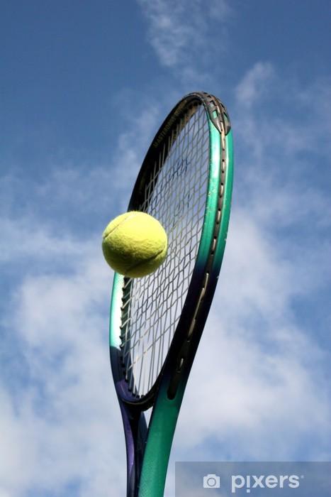Papier peint vinyle Raquette de tennis et de balle - Articles de sport