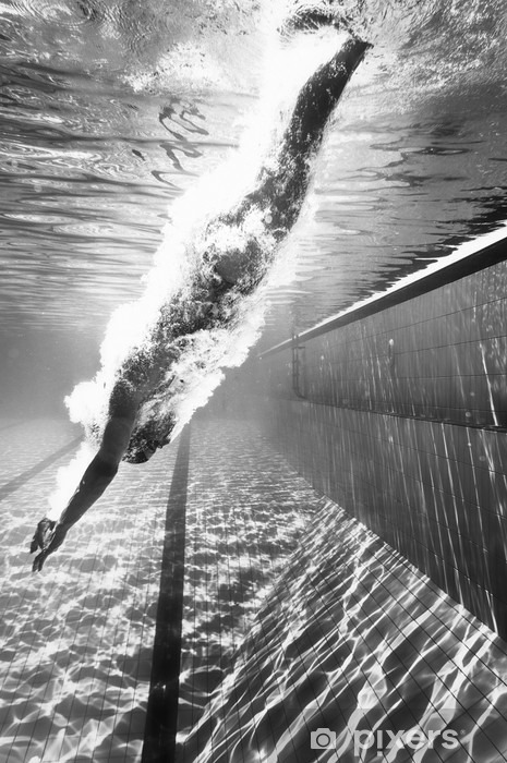 Diving into the pool Vinyl Wall Mural - Sports