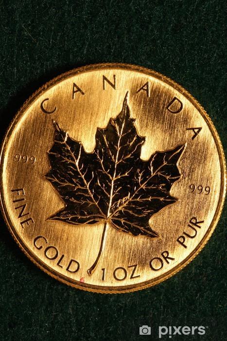 One Ounce Gold Bullion Coin - Canada Wall Mural - Vinyl