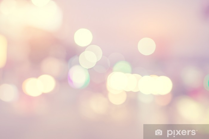 Abstract light bokeh with blur background - vintage color tone filter effect Pixerstick Sticker - Graphic Resources