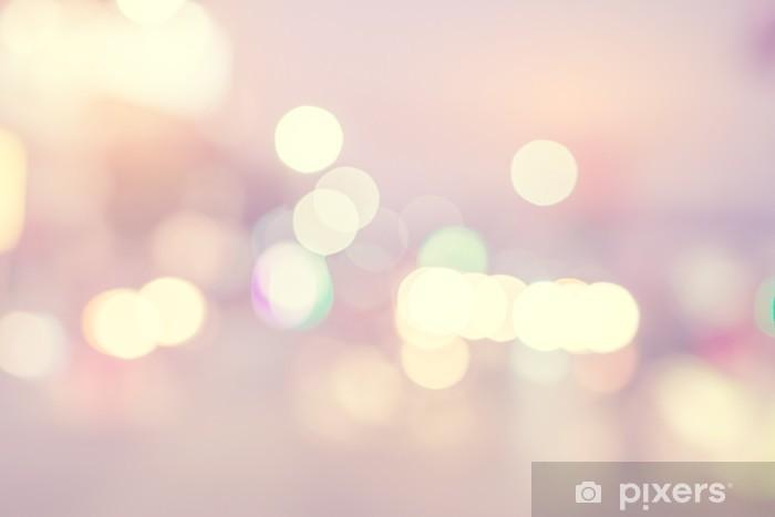 Vinilo Pixerstick Bokeh ligero abstracto con desenfoque de fondo - de color efecto del filtro de tono de época - Recursos gráficos