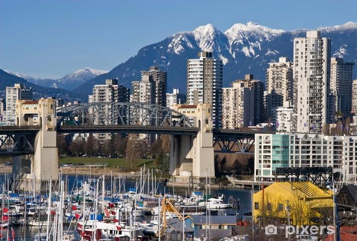 Vinylová fototapeta Burrard most a Downtown Vancouver ve slunné zimní den .. - Vinylová fototapeta