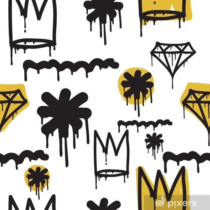 Graffiti seamless pattern Pixerstick Sticker - Graphic Resources
