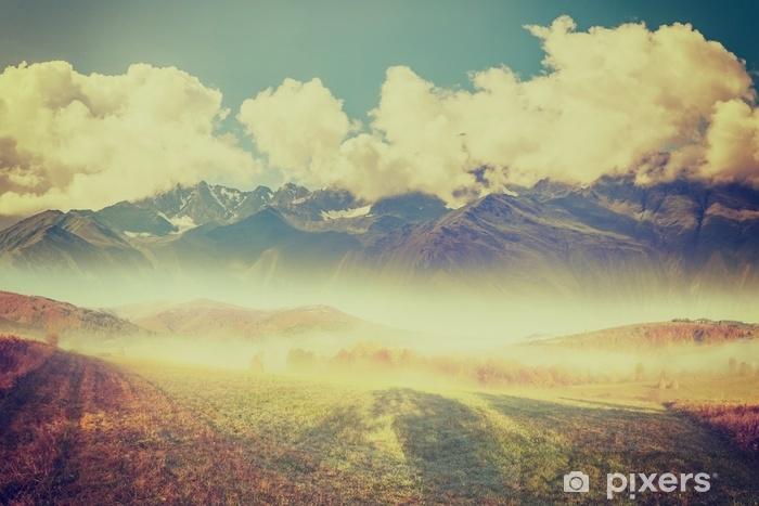 Papier Peint Autocollant Beau paysage de montagne - Paysages
