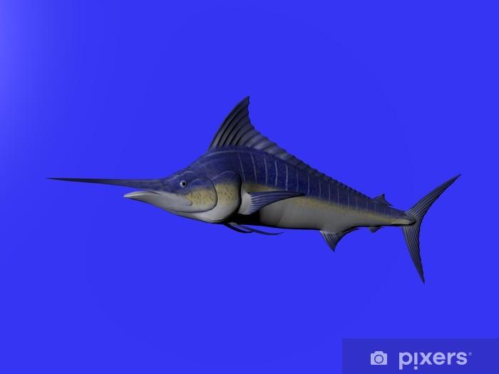 Papier peint vinyle Illustration 3D d'un marlin bleu isolé sur - Signes et symboles